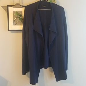 Eileen Fisher Woman Silk Wool Drape Cardigan 1X